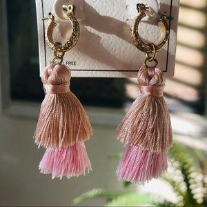 MELROSE & MKT Two-Tier Tassel Earrings NWT!